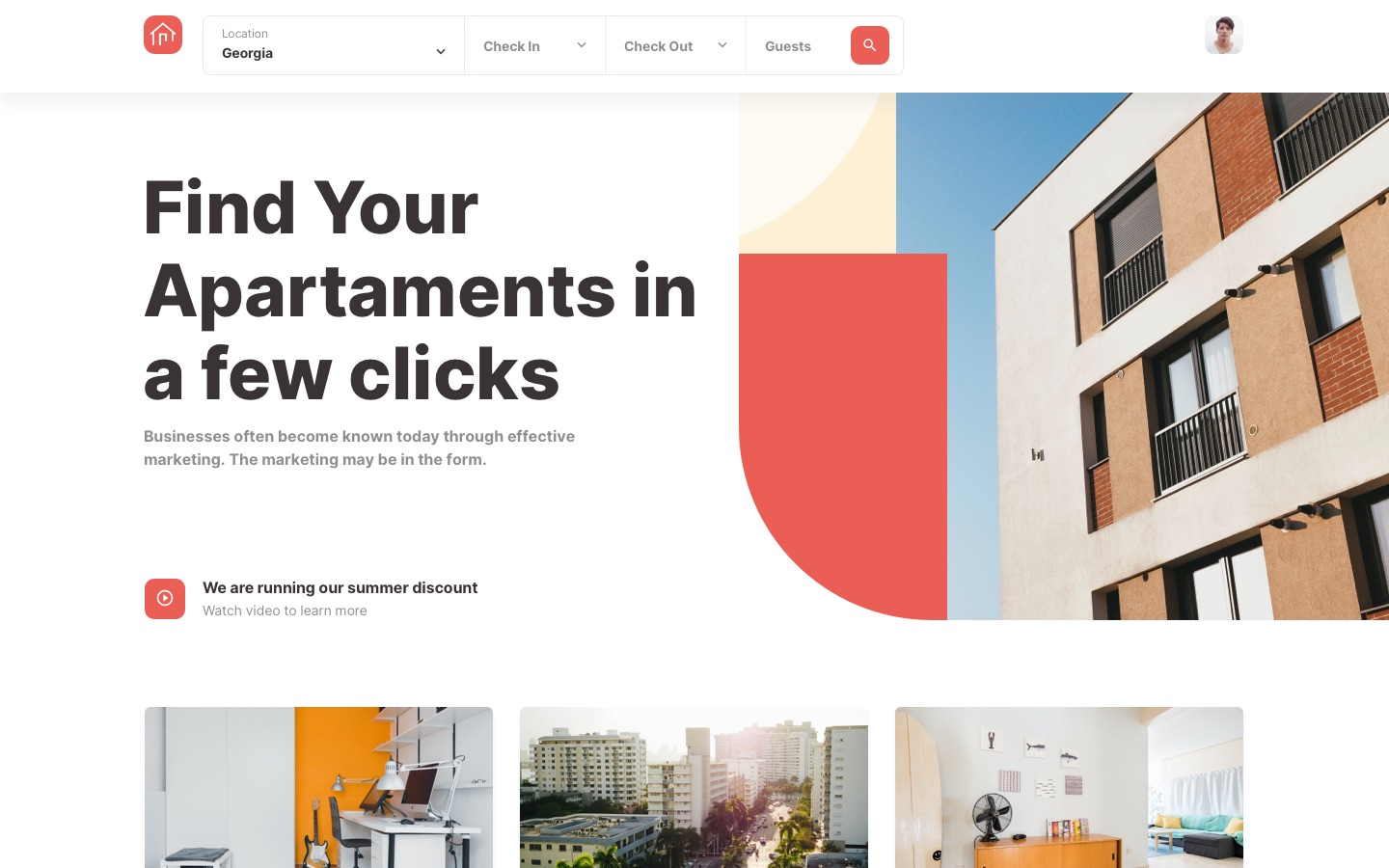 Roomsfy Landing Page
