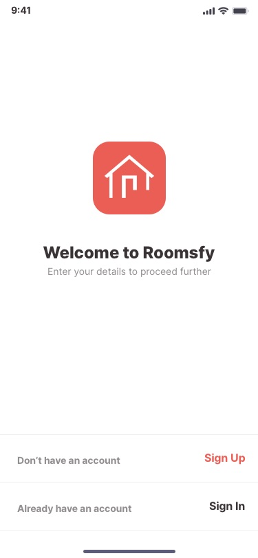 Roomsfy Sign In Page