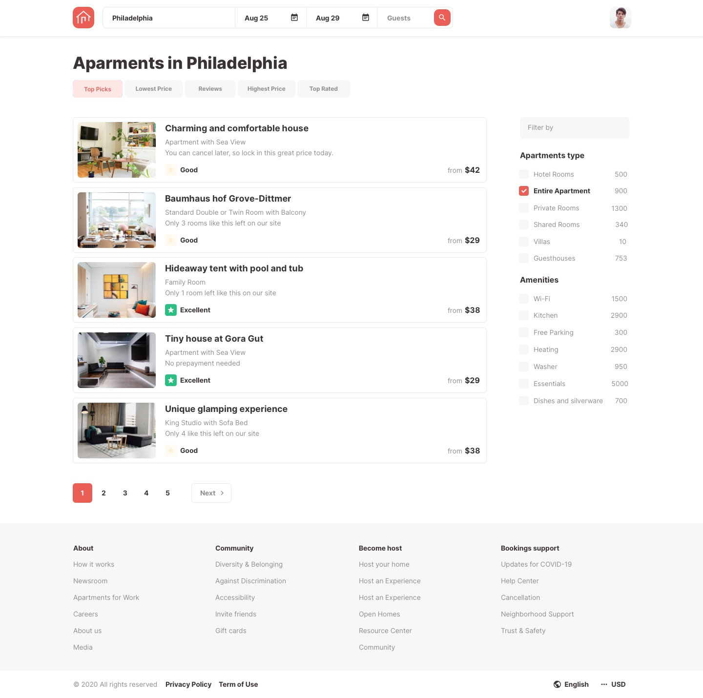 Roomsfy Search Results