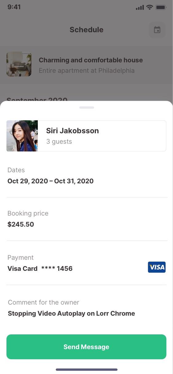 Booking Schedule