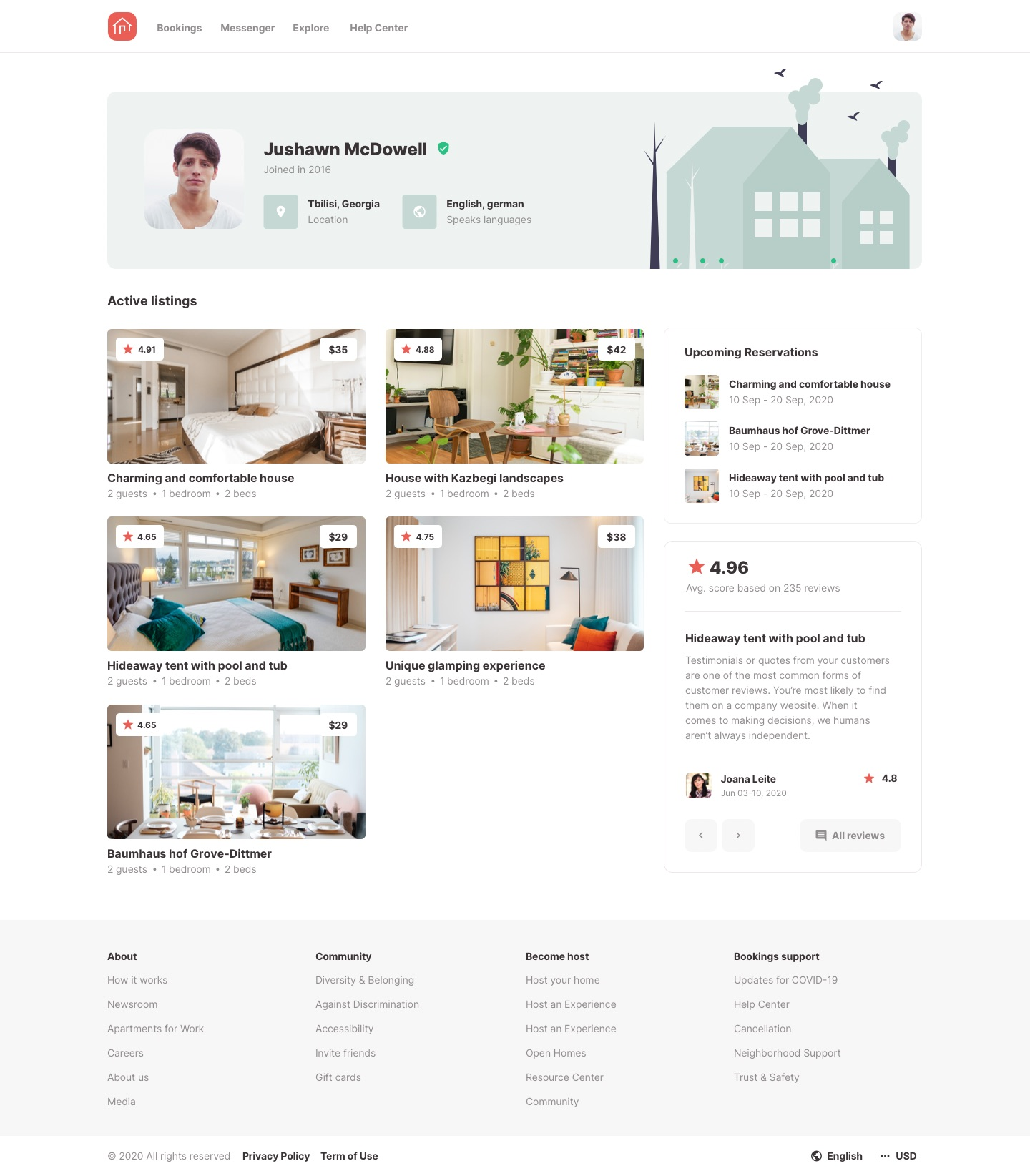 Roomsfy User Account