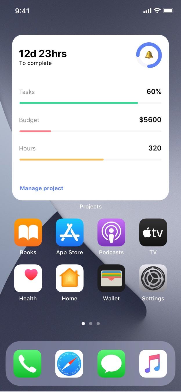 productivity app ios widgets