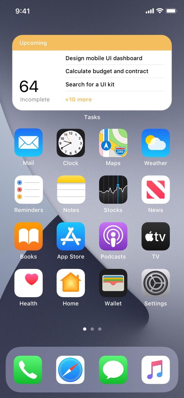 todo app ios widgets