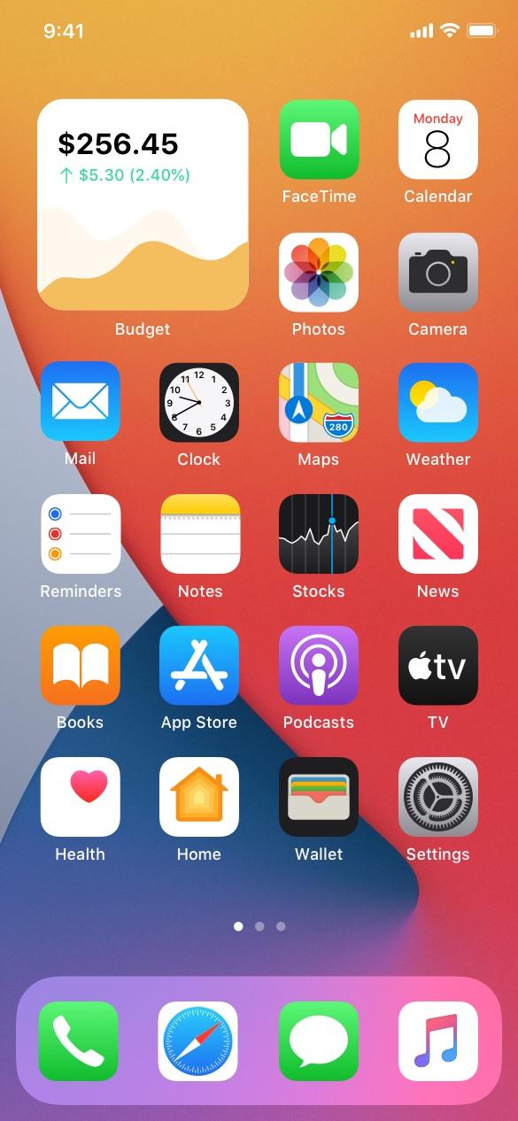 banking app ios widgets