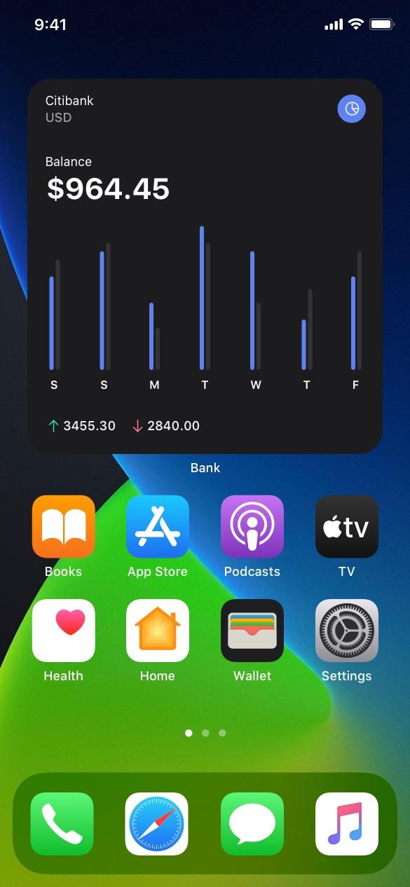 finance ios widgets