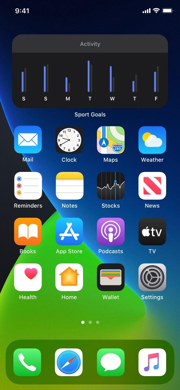 Sport and Lifestyle ios widgets