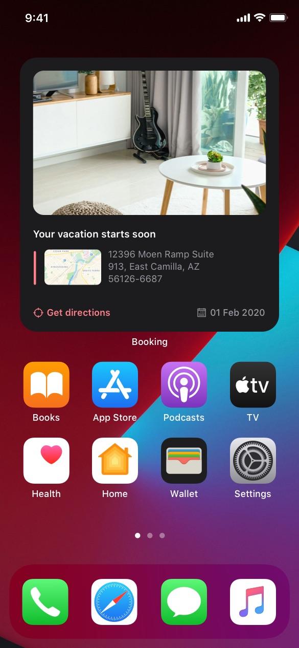 booking ios widgets