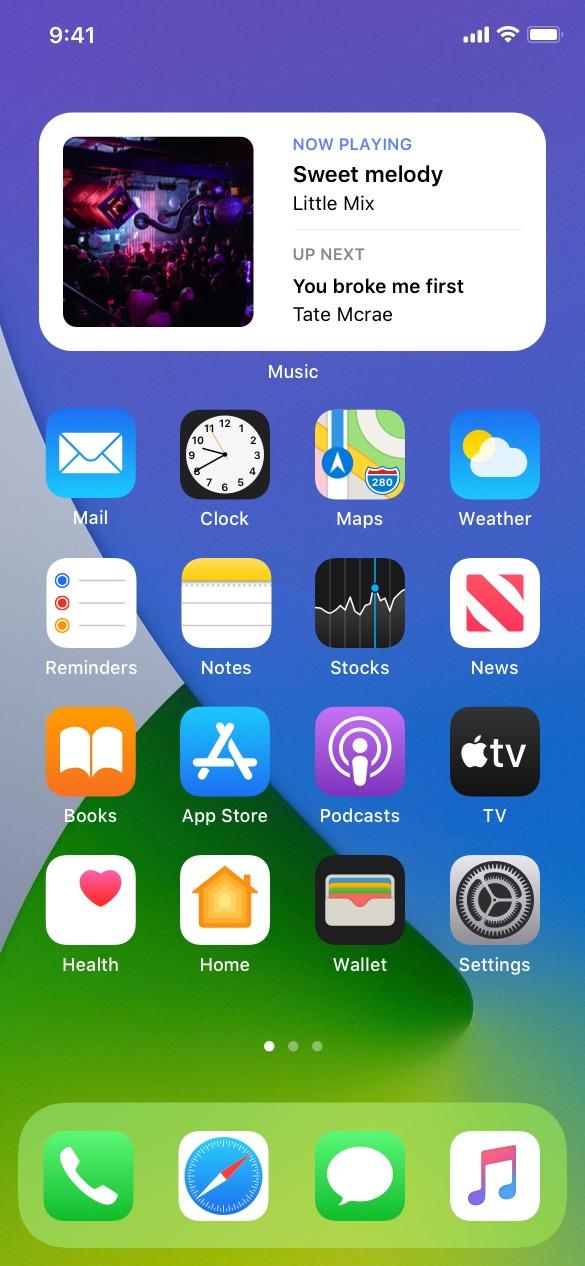 Entertainment ios widgets