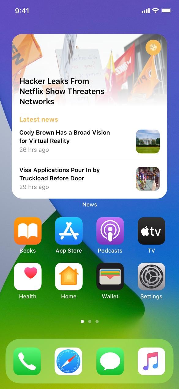 social ios widgets