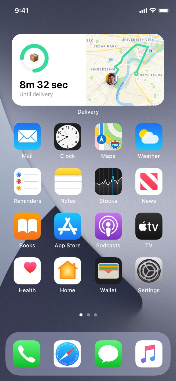 Navigation and Delivery  ios widgets