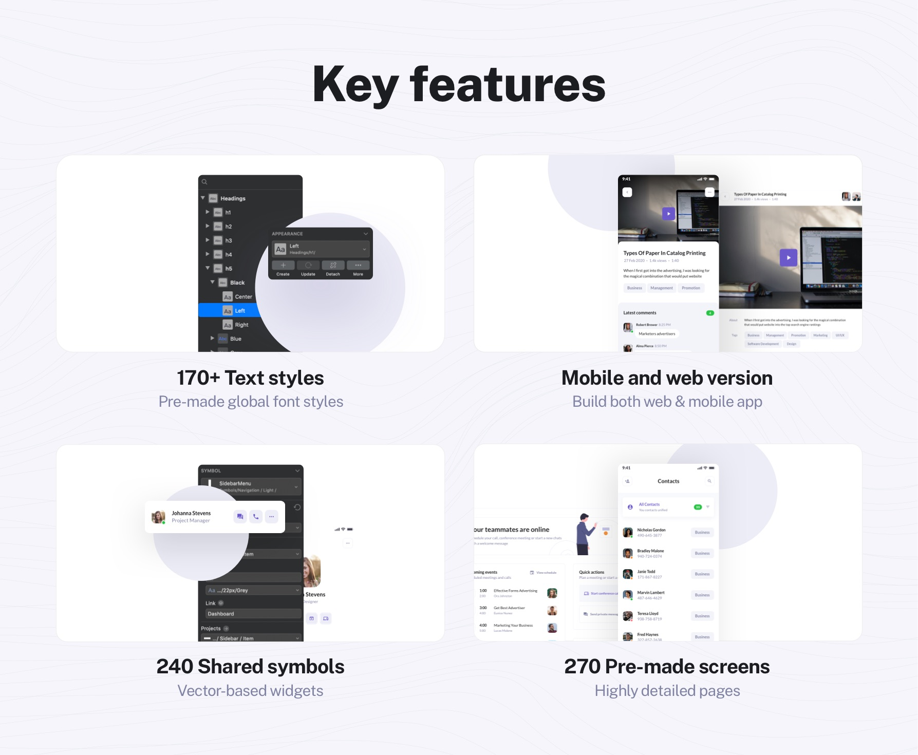 UI Kit features