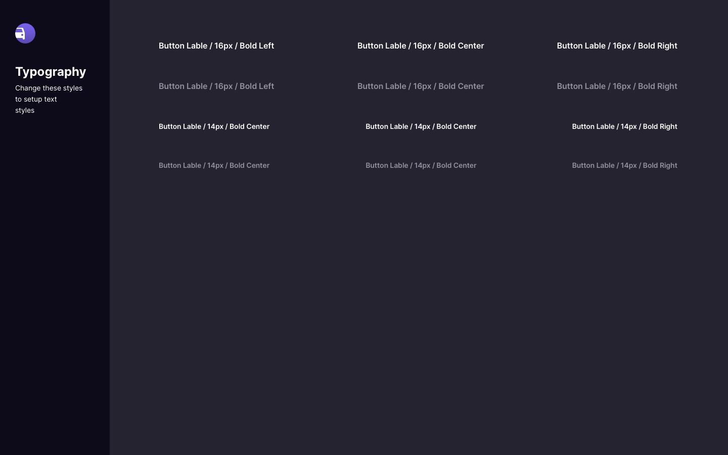 UI Kit Style Guide