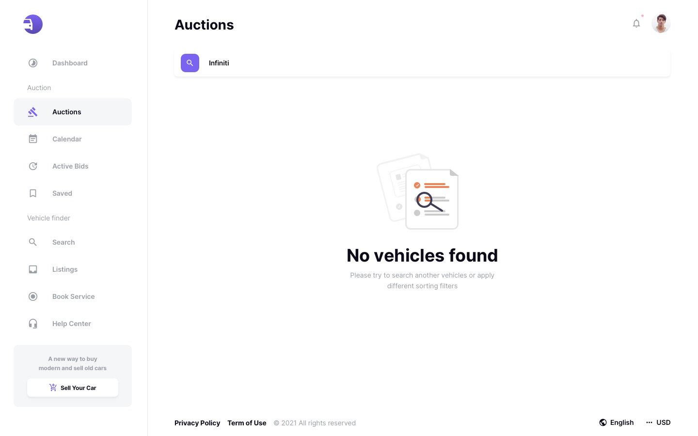 Auto Auction Template