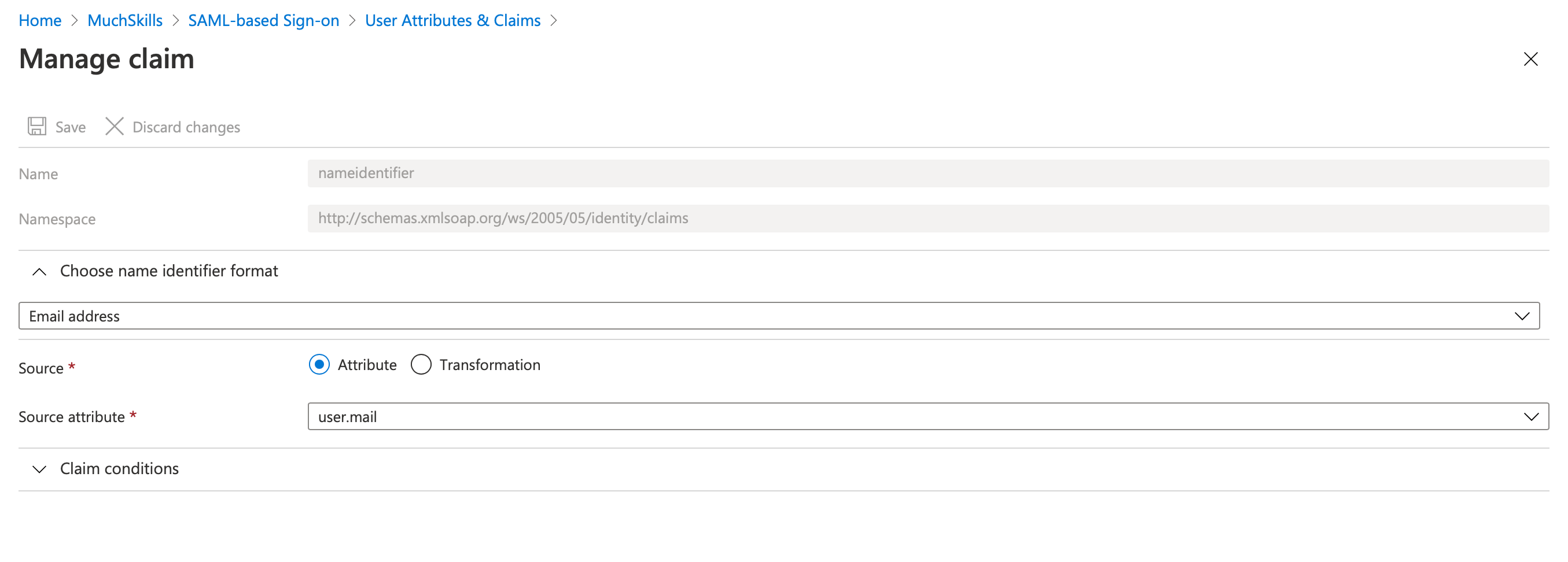 MuchSkills SAML SSO integration to Azure AD