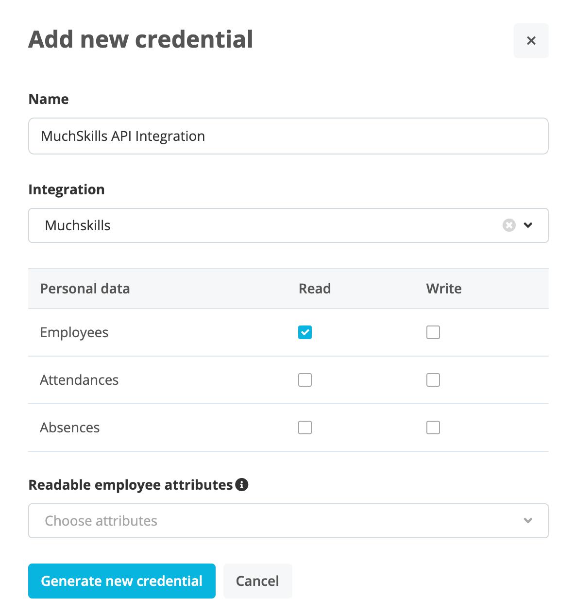 MuchSkills - Personio Integration Guide API Credentials