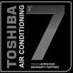 toshiba air con accredited installer logo