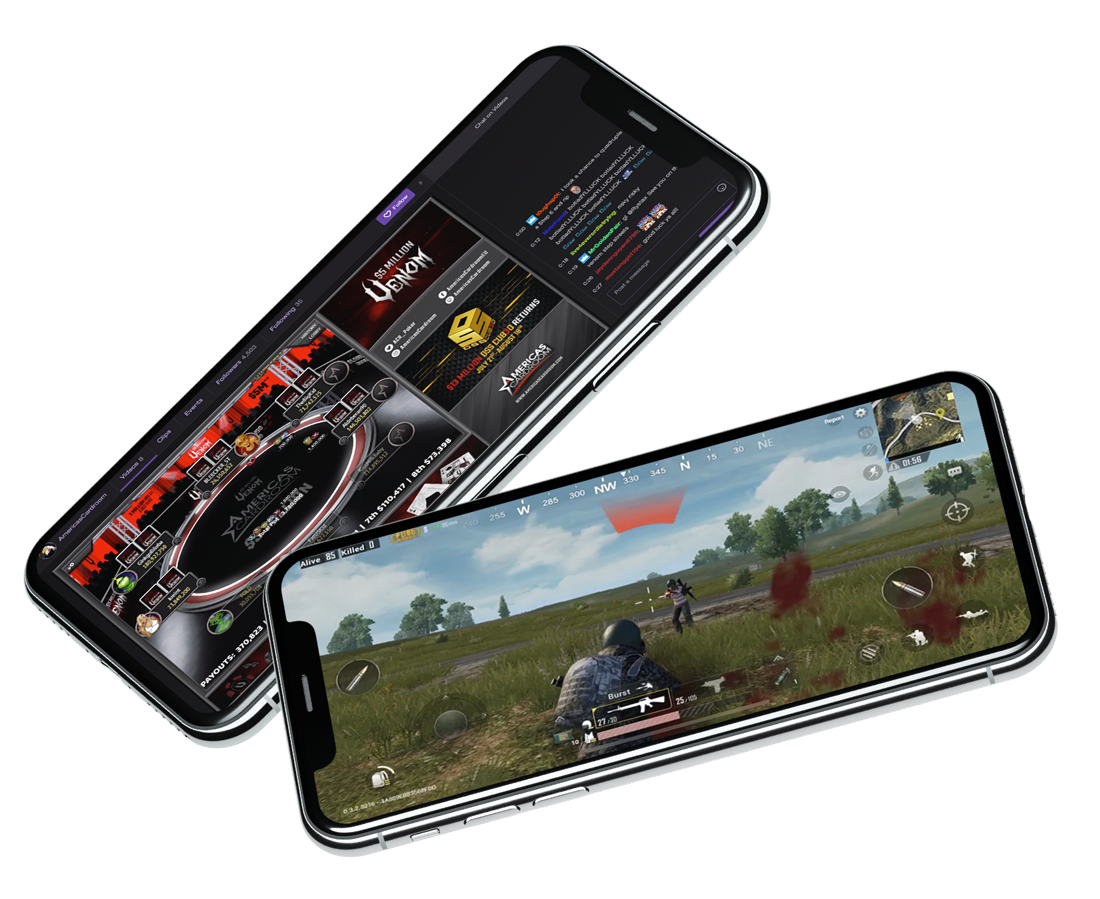 ACR Venom and PUBG Mobile streaming on mobile phone