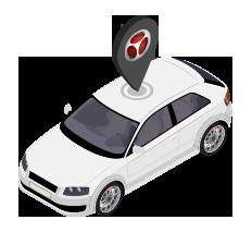 isometrico auto localizador detektor