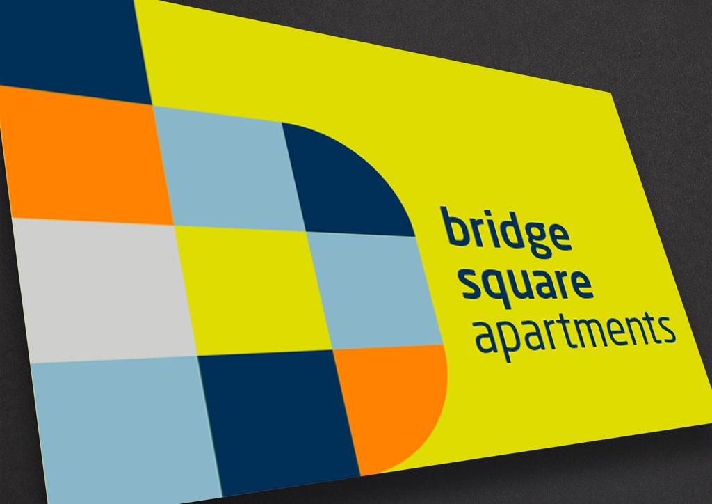 Bridge Square apartments branding image