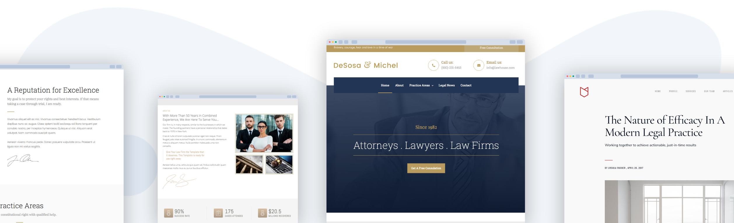 Examples of law firm websites