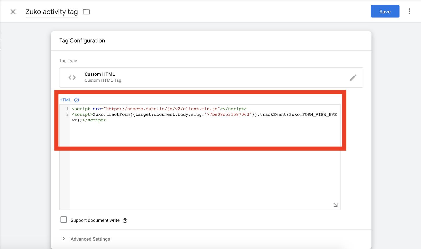 Zuko Activity Tracking Tag Screenshot