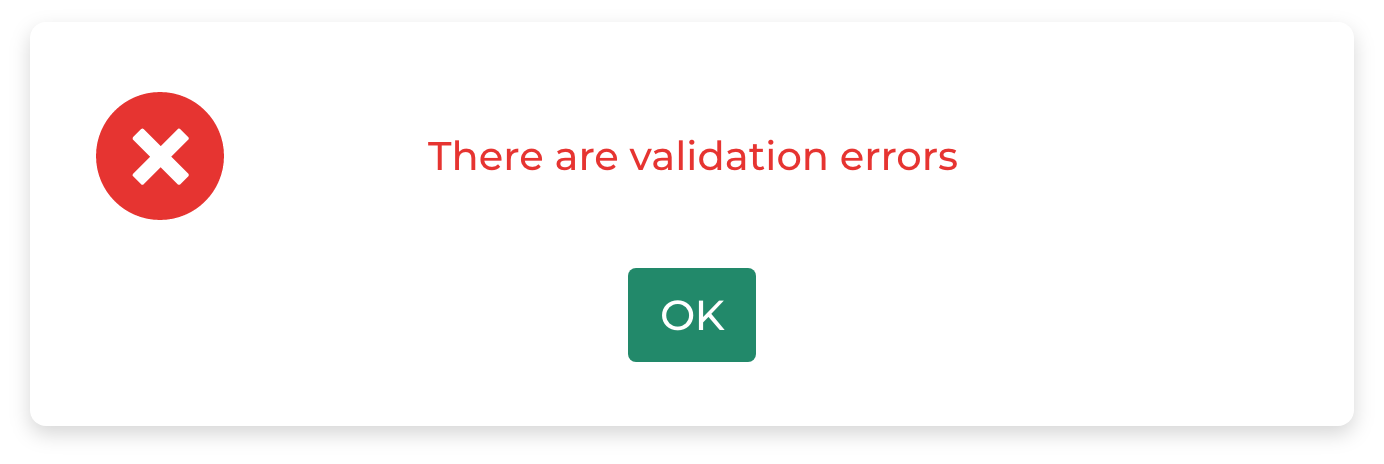 An example of an unhelpful error message