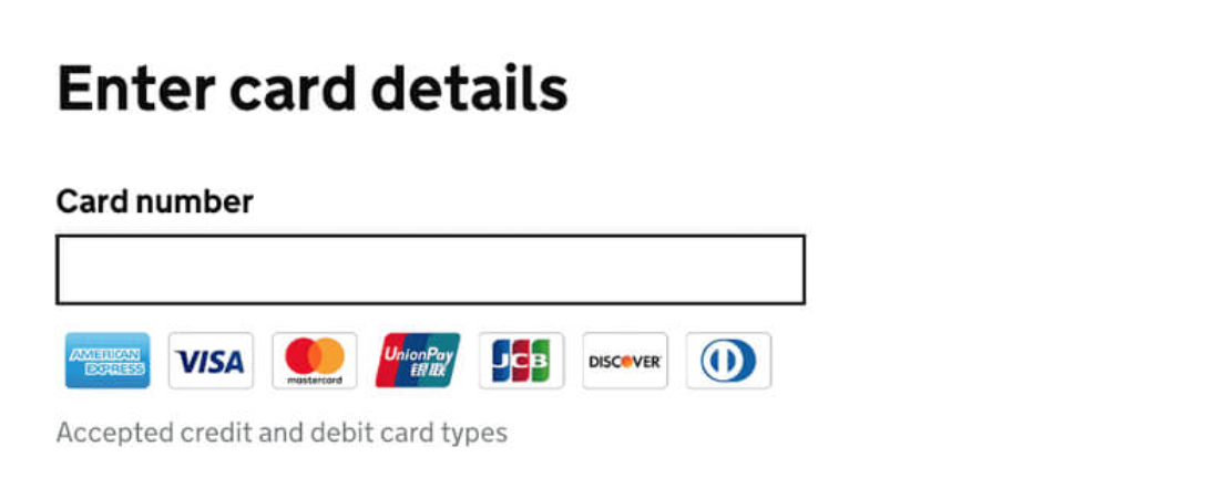 The UK Government recommend this method of asking for credit card numbers