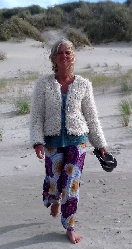 Jacky Peeters op het strand