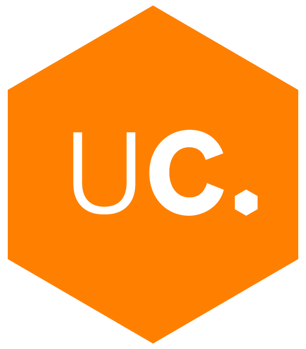Unacast logo badge