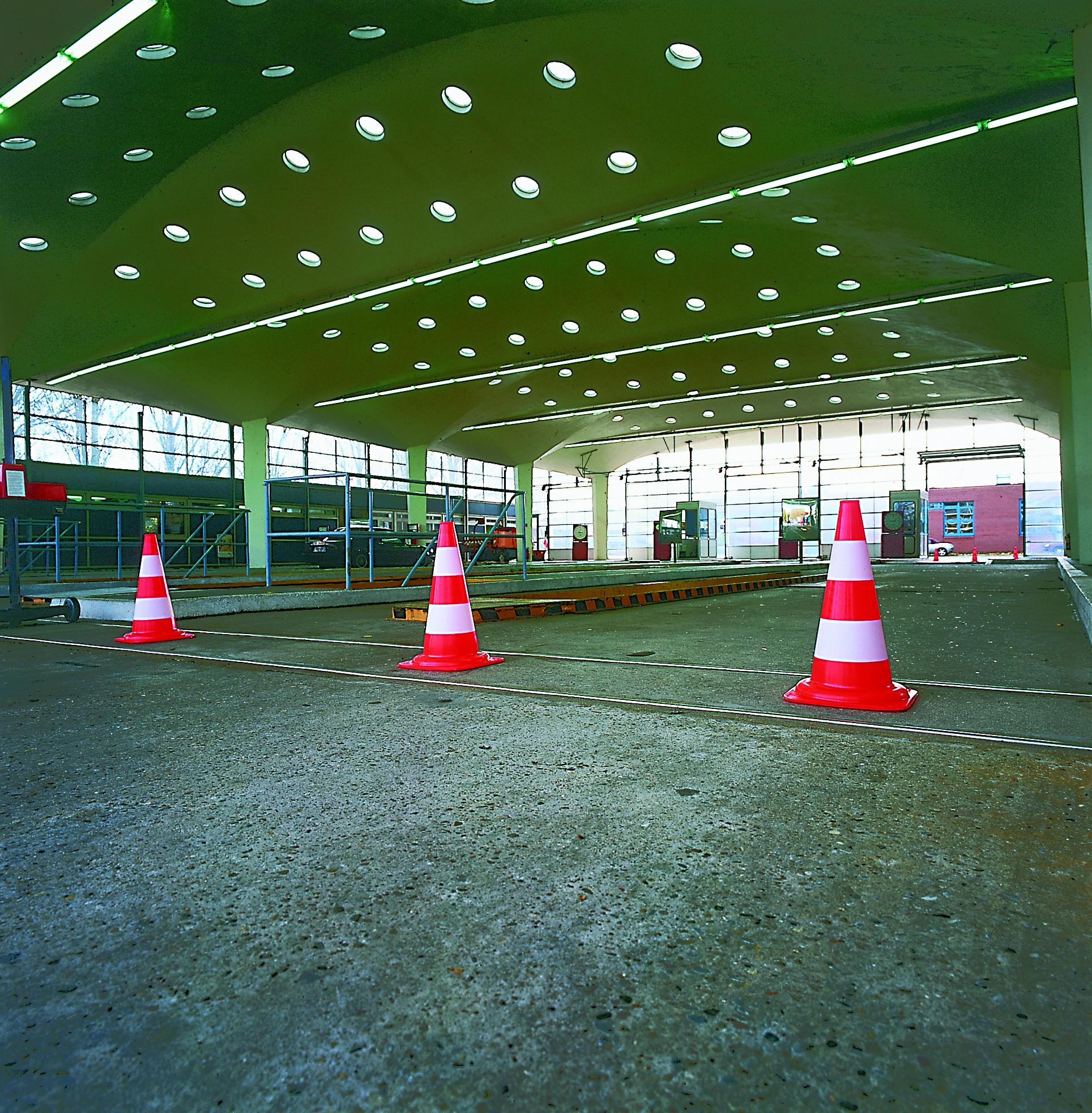 Traffic Line Flourescent Cones