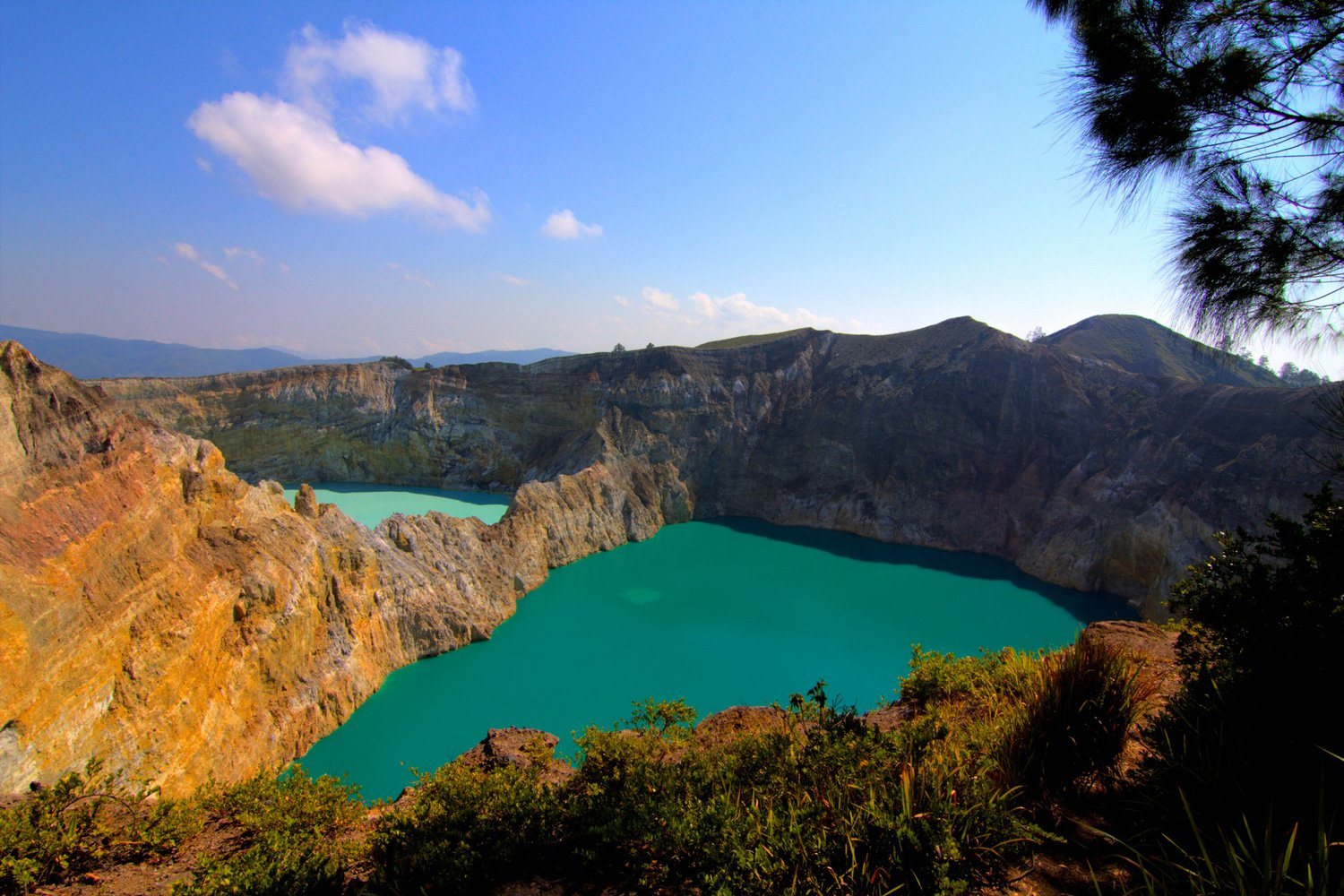Take in the vivid colours of the volcanic lakes