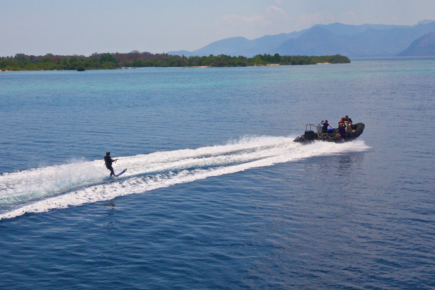 Enjoy wakeboarding and waterskiing