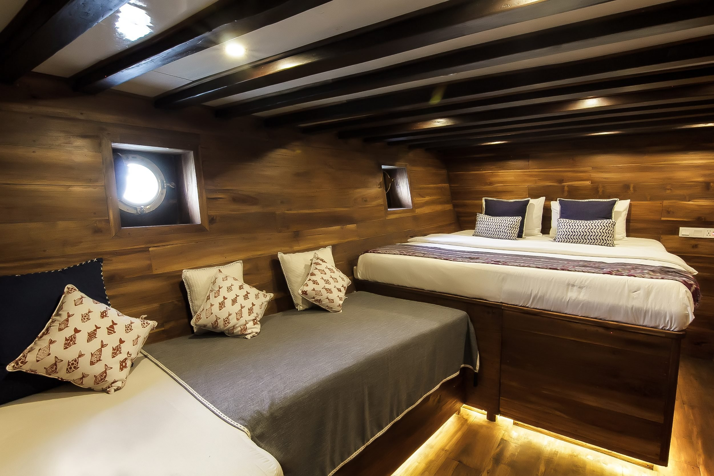 A superior cabin on the lower deck