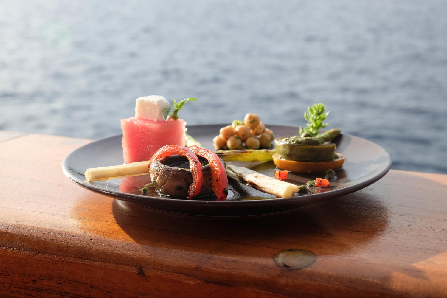 Fine dining at sea on Tiger Blue