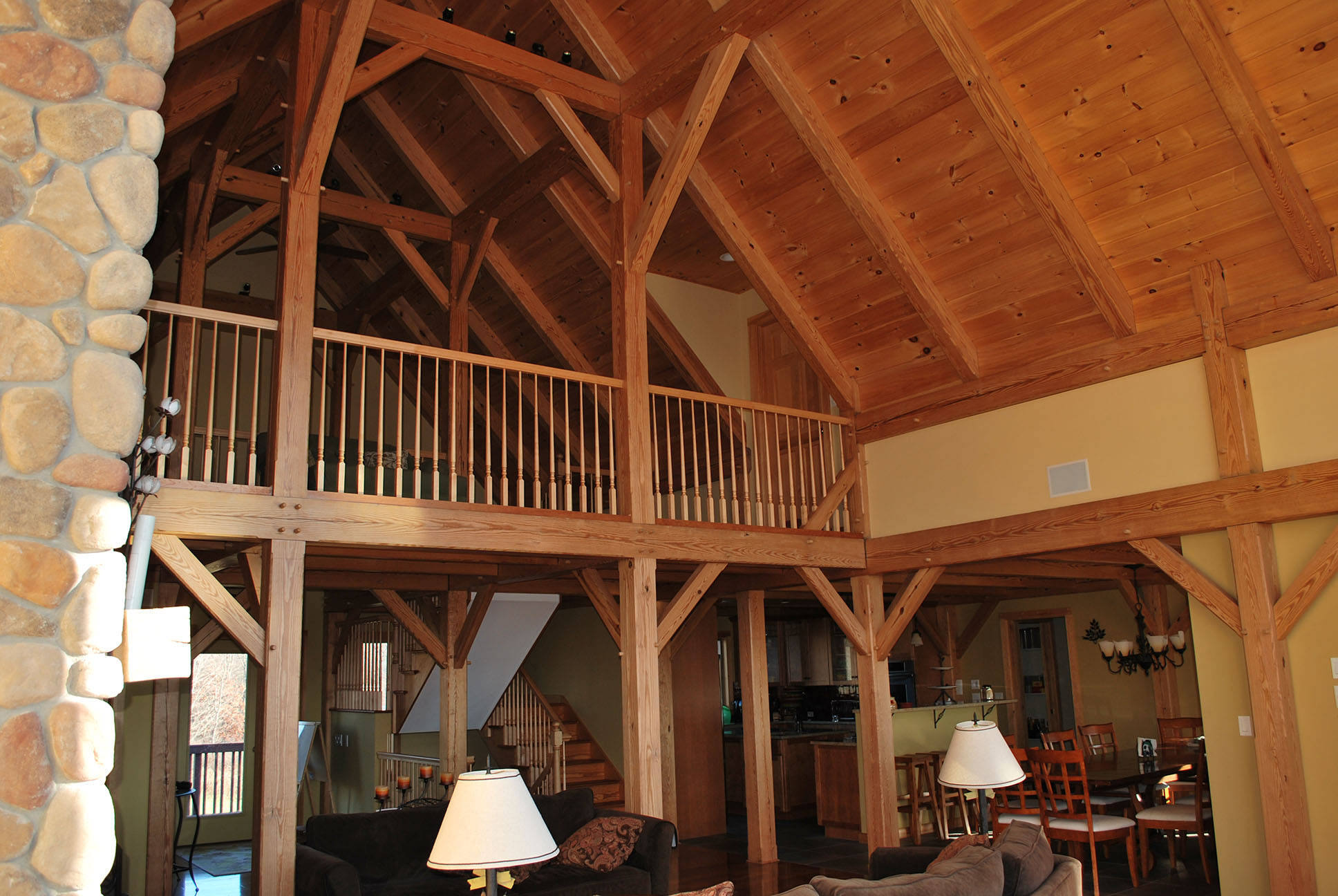 Timber Frame Home Construction in the Berkshires