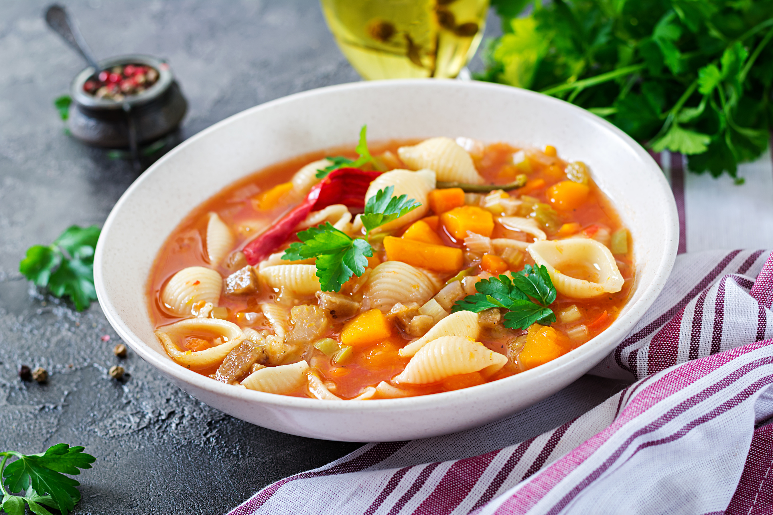 Simple minestrone soup
