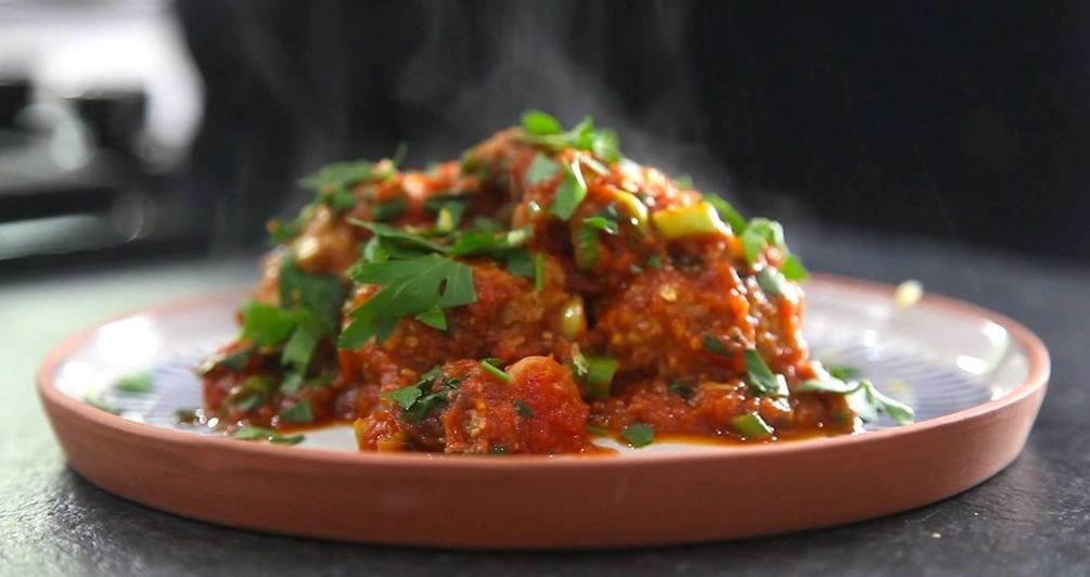 Vegan moroccan style meatballs