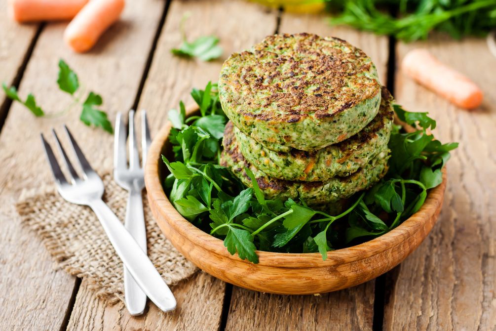 Spinach and lentil burgers