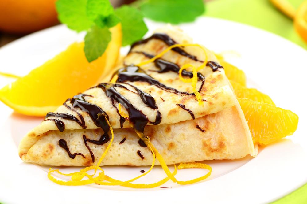 Chocolate orange vegan pancakes