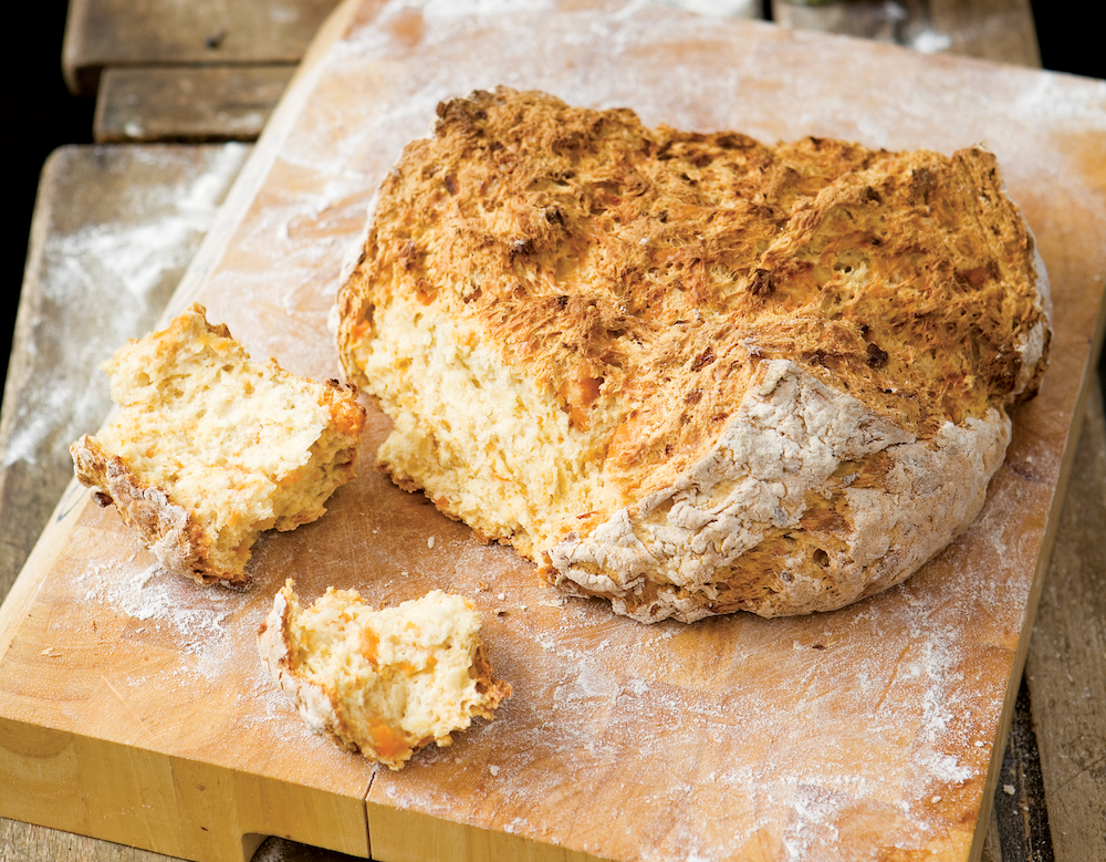 Sweet potato and cheese style soda bread