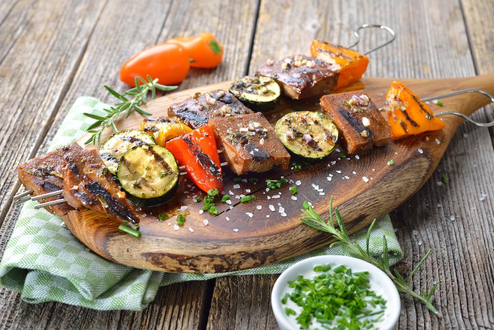 Meaty garlicky kebabs