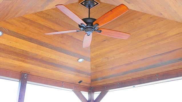 Custom Hardwood Ceiling - Residential dock builders