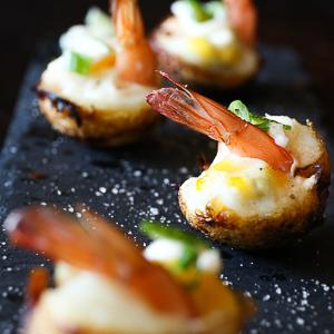 Truffle shrimp appetizer