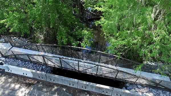 Pedestrian Bridge & Sidewalk Construction Willtown Charleston County
