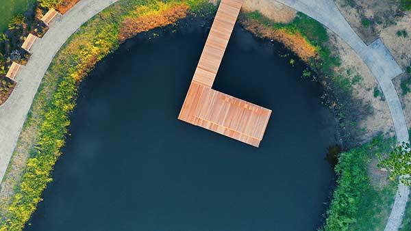 Kiawah Pond Dock Overhead