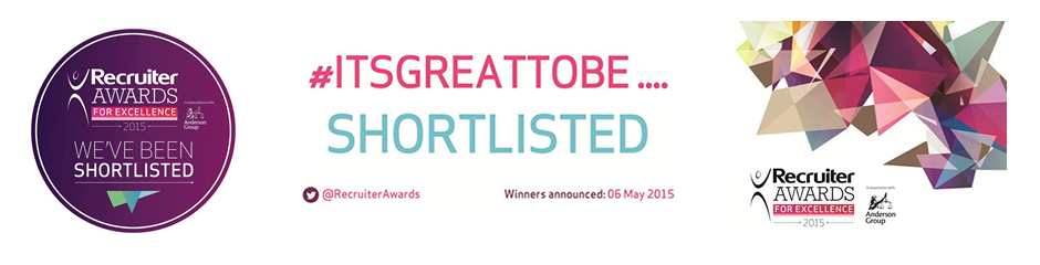 Recruiter Awards for Excellence 2015 - Shortlisted Logo