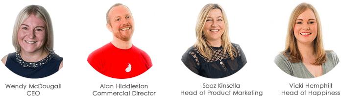 Firefish Staff Wendy McDougall, Alan HIddleston, Sooz Kinsella and Vicki Moir