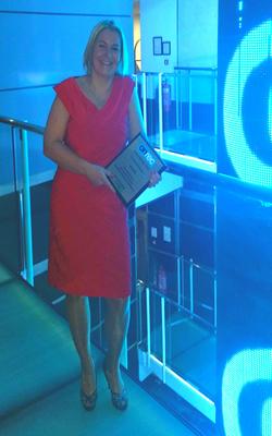 Wendy McDougall at the Onrec Awards 2015