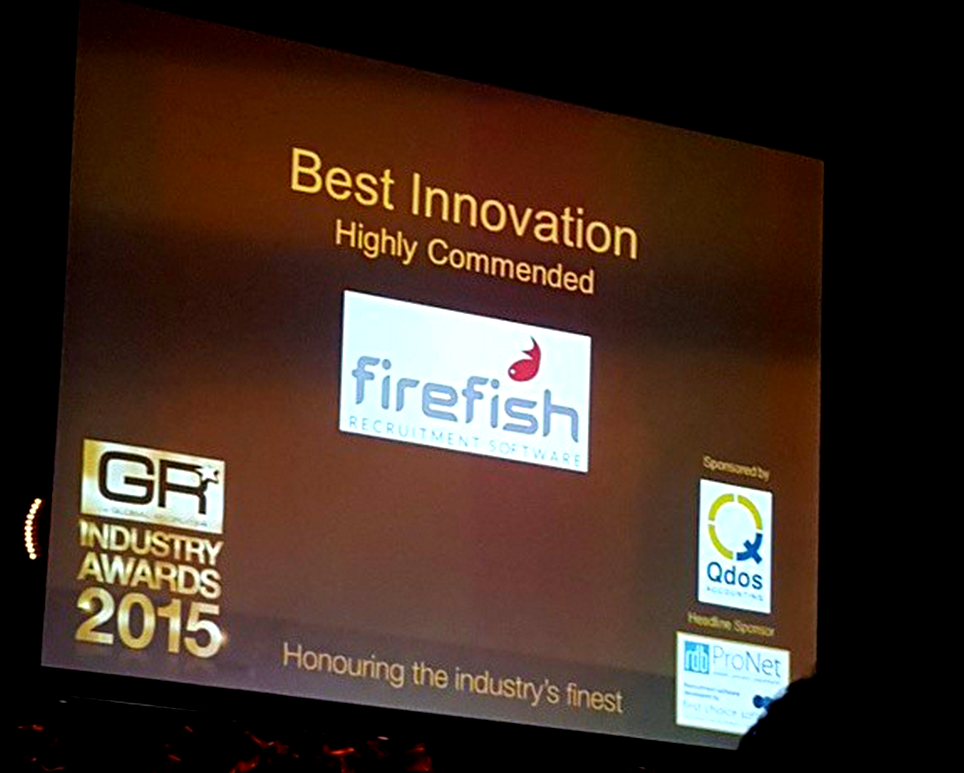 Global Recruiter Awards - Firefish is Highly Commended