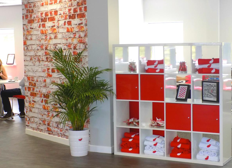 Firefish Software New Office - Branded Shelf